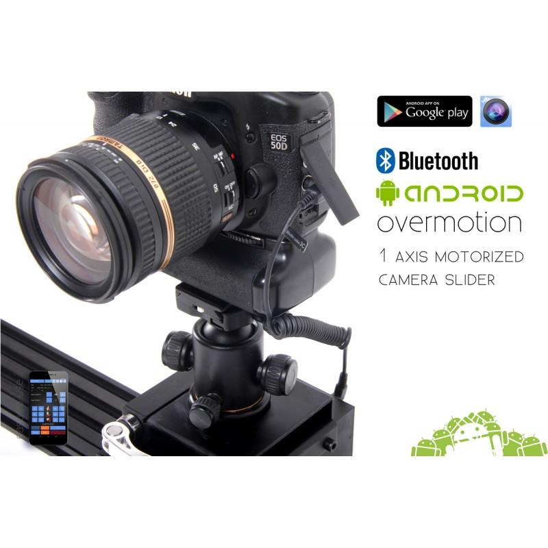 1 axis motorized camera slider motion control bluetooth for Stepper motor camera slider
