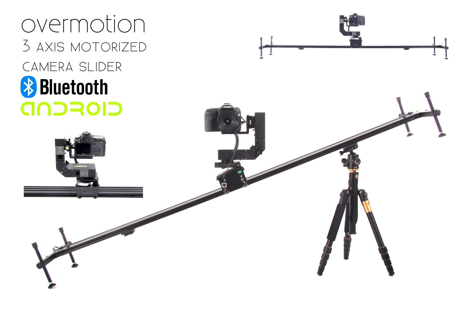 motorized camera slider 3 axis   motion control overmotion bluetooth android