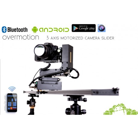 3 AXIS Stepper Motorized Camera Slider, Bluetooth Android