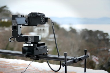 overmotion motorized camera slider 3 axis  motion control bluetooth android
